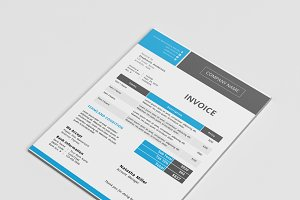 Modern docx invoice template