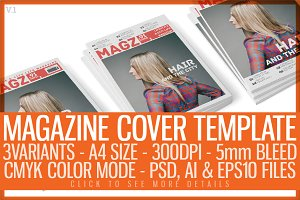 Magazine Cover Template 3