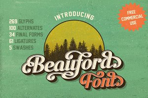 Beauford Font {Free Commercial Use}