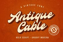 Antique Cable | Bold Script by  in Fonts
