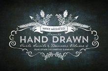 Hand Drawn Curls & Banners Vol. 4