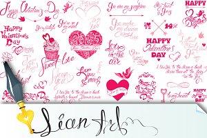 Happy Valentines Day calligraphy