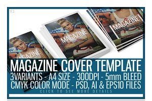 Magazine Cover Template 1