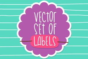 Vector set of labels