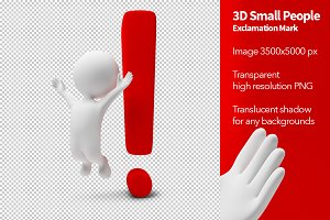 3D Small People - Exclamation Mark