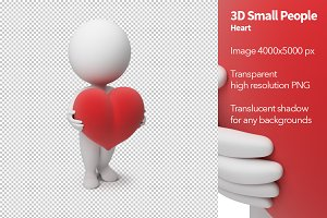 3D Small People - Heart