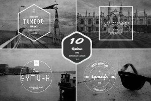 Retro Insignia Logos & Badge V-2