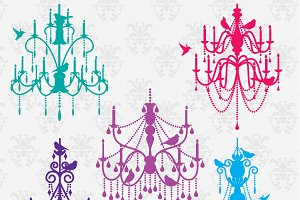 Chandeliers & Birds PS Brushes
