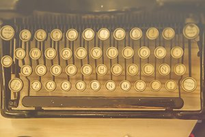 antique typewriter keyboard