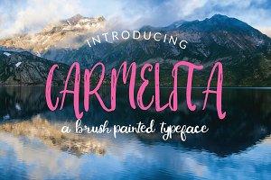 Carmelita Brush Font