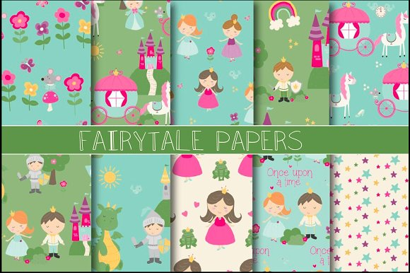 Coloring pixels - fairy tales packets