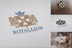 Royal Lion Crest Badge