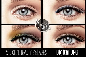 Beauty Eyelashes Makeup Overlay