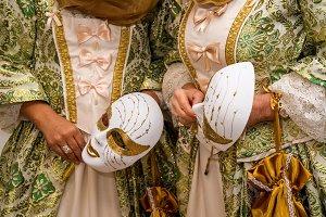 Carnival. Venetian style masks (II)