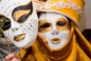 Carnival. Venetian style masks (III)