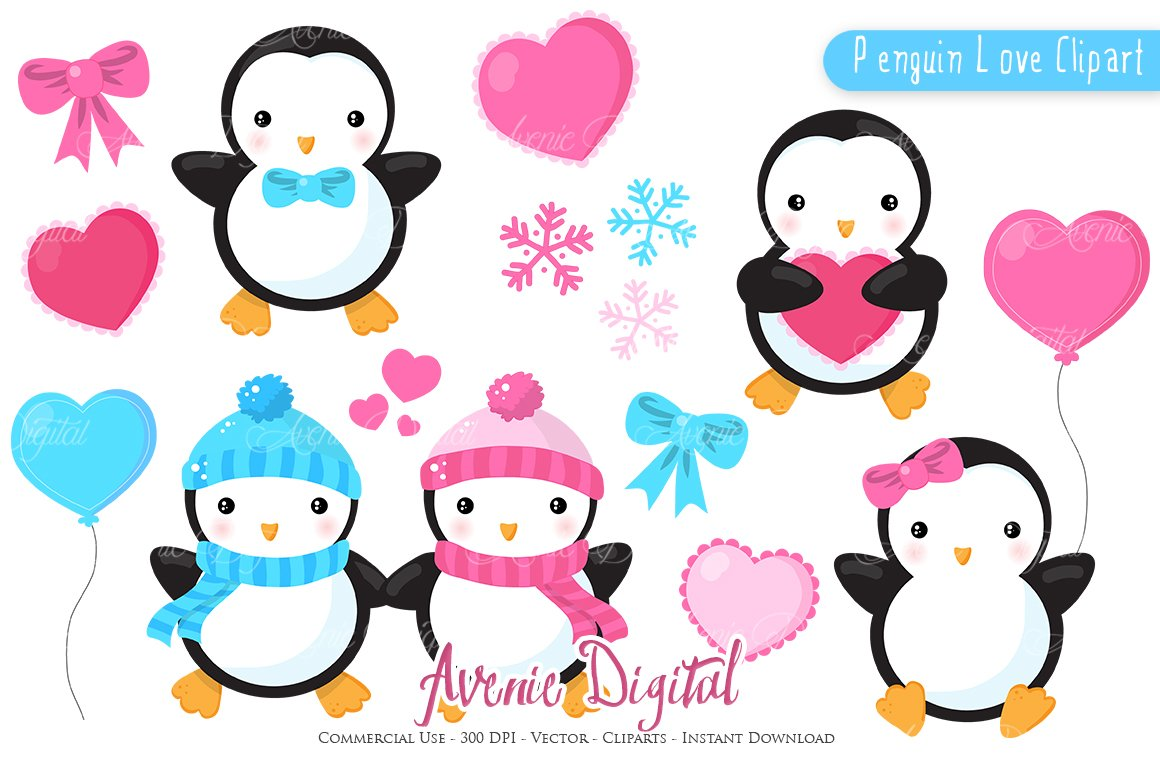 Penguin clip art Photos, Graphics, Fonts, Themes, Templates ...