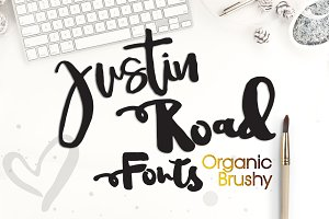 Justin Road Font Family