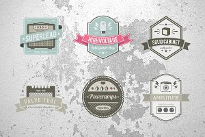 Vintage Amplifier Badges Set