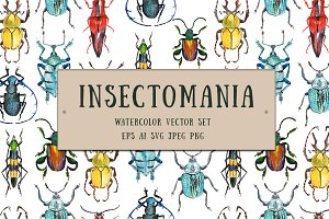 Insectomania - watercolor bugs