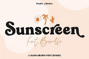 Sunscreen Hand Drawn Serif Font Duo