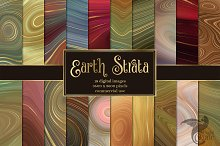 Earth Strata Agate Geode Textures by  in Graphics