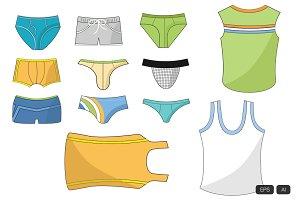 24 Underwear Doodle Vector