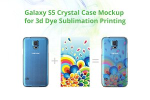 Galaxy S5 3d Crystal Case Mock-up