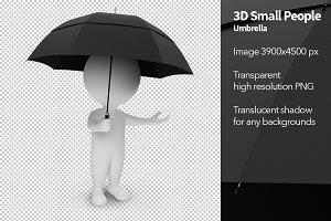 3D Small People - Umbrella