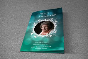 Funeral Program Template - T332