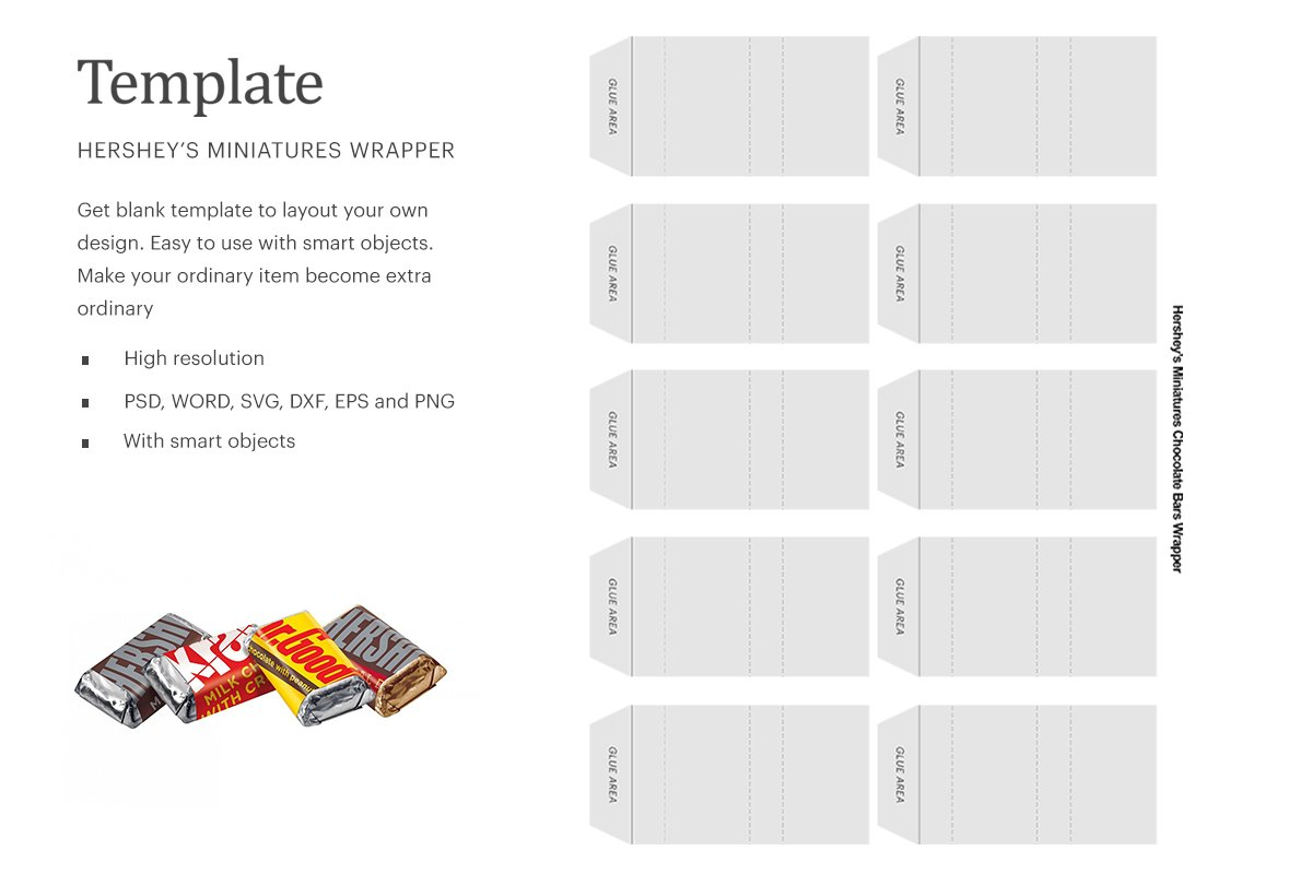 Hershey Bar Label Template from images.creativemarket.com