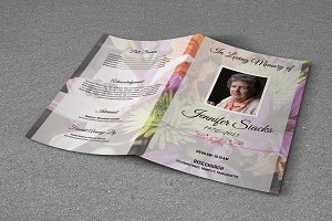 Funeral Program Template - T333