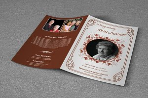 Funeral Program Template - T334