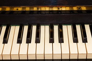vintage piano keyboard