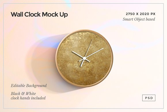 Download Wall Clock Mock Up PSD