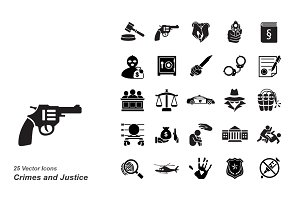 Crimes and Justice icons