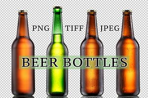 Misted Beer Bottles