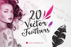 20 Vector Feathers