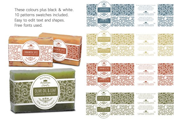 soap label packaging template templates creative market