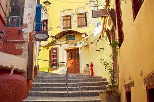 cosy street of Chania, Crete, Greece