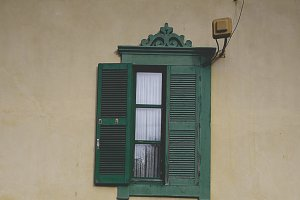Rustic exterior window