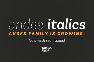 Andes Italic Family