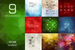 9 store infographics