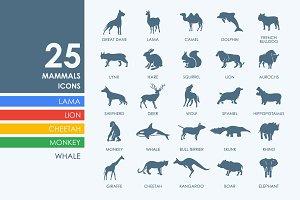 25 mammals icons