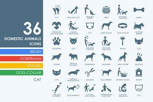 36 pets icons