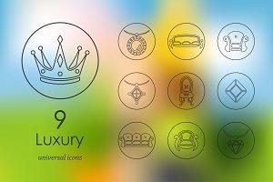 9 luxury line icons