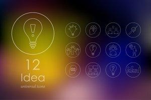 12 idea line icons