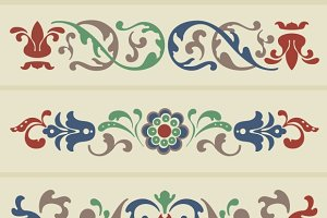 Vector Russian Floral Ornament