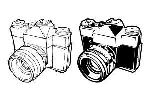 Hand-drawn Retro Camera