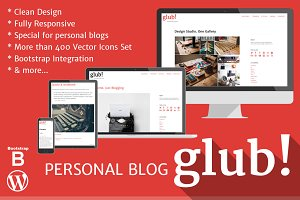 Glub! Personal Blog WordPress Theme