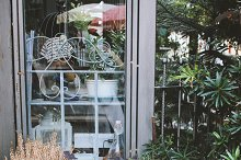 Exterior of window with cute stuffs